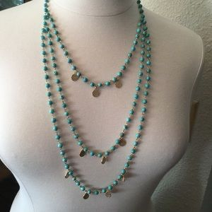 Jewelry - 🌸ON HOlD🌸 TURQUOISE BEAD 3 STRAND NECKLACE🌸
